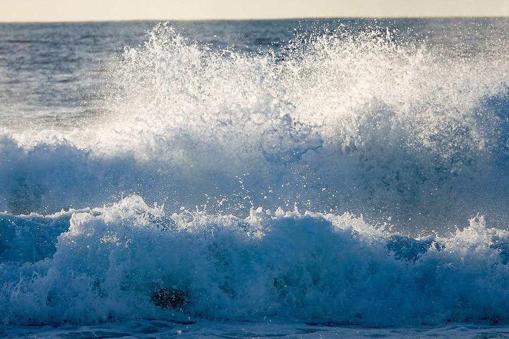 Manhattan Beach crashing waves by Jefferson Graham