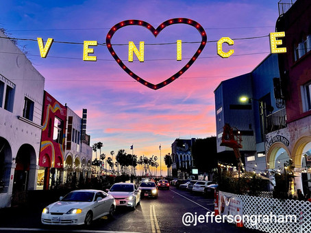 Good night from Venice Beach