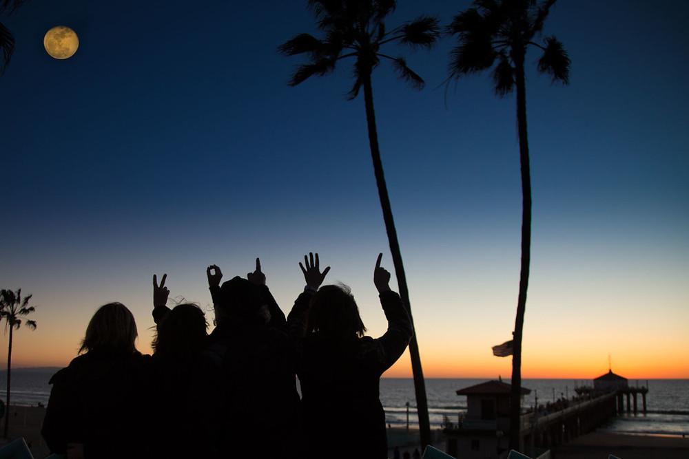 Happy new year from the Manhattan Beach photographers at the Manhattan Beach Pier, 2016