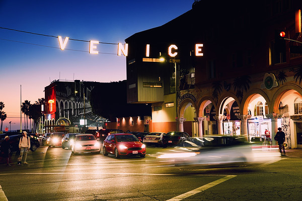 The Venice sign in Venice Beach, California