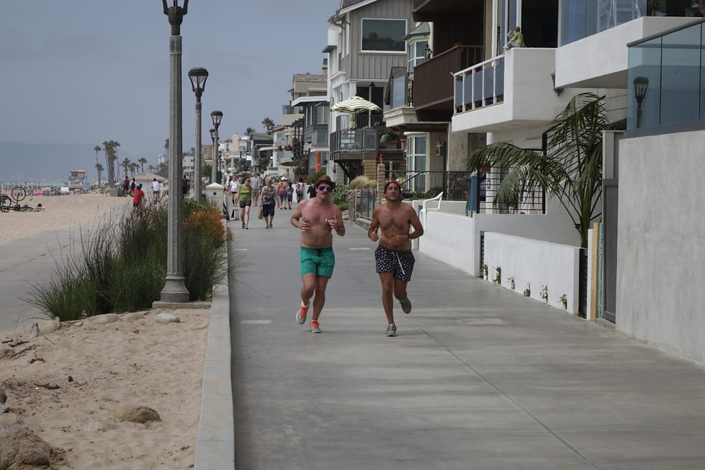 Jogging in Manhattan Beach