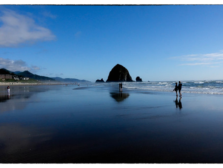 No bad view of Haystack Rock
