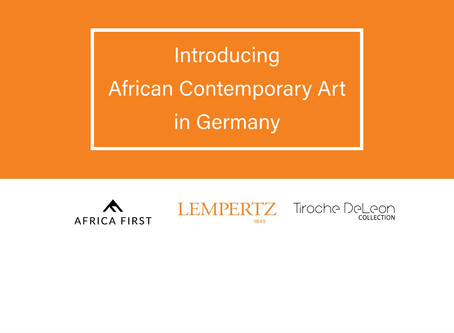 African Contemporary Art Collaboration with Lempertz Auction House