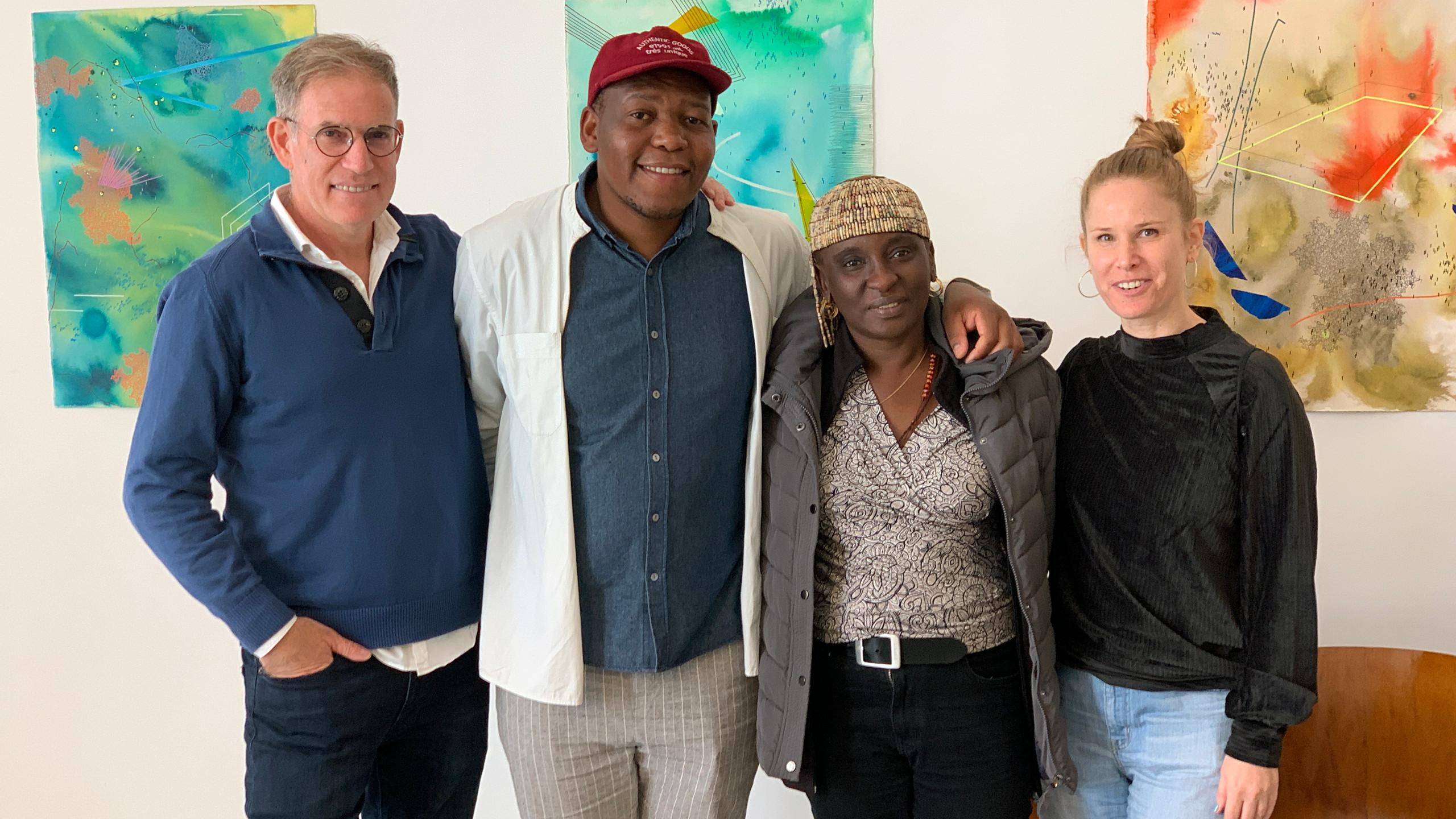 Mongezi Ncaphayi's preview exhibition