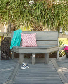 Trex Transcend Island Mist ławka w parku