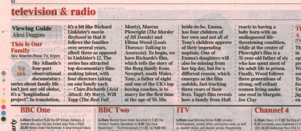 The Times - This is Our Family - Viewing