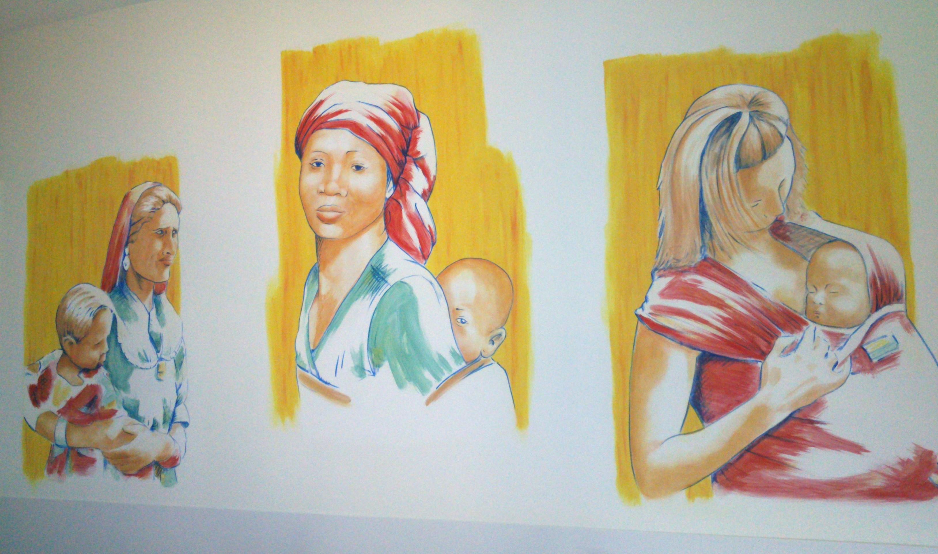 fresque, maman du monde hôpital Toulon