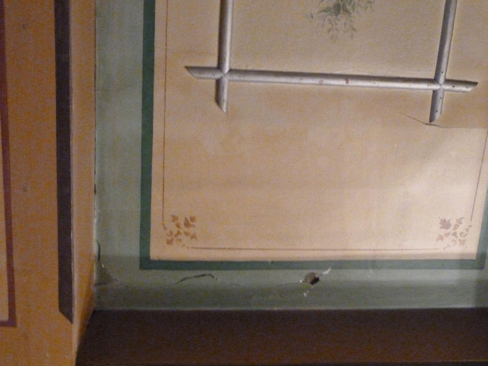 plafond à l'huile avant travaux