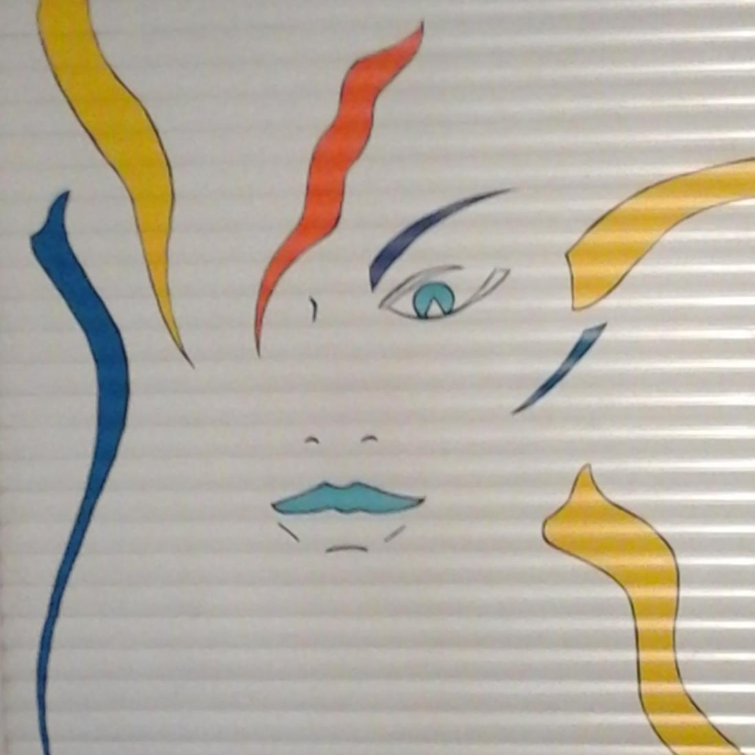 Décor peint sur porte de garage