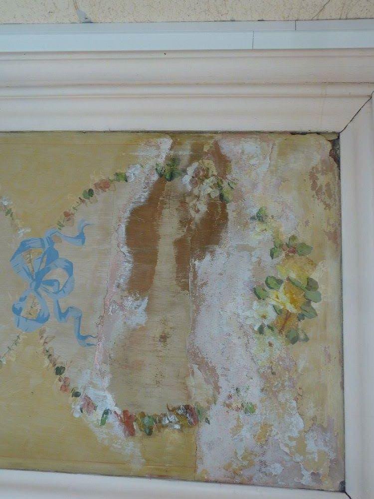 restauration plafond caséine, avant travaux