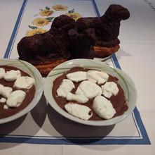 Déssert de Pâques Moutons et crème au chocolat