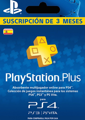 Play Station Plus 3 meses
