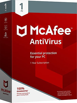 McAfee AntiVirus Plus (1 Dispositivo, 1 año) - PC, Android, Mac, iOS