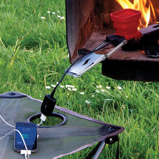 感激!iPhoneのキャンプファイヤーで火力充電。