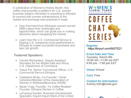 Womens Africa Coffee Chat on Ethiopia