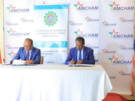AmCham Ethiopia and Ethiopian Chamber of Commerce signed partnership MoU