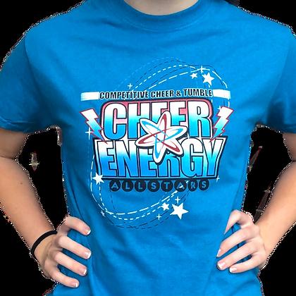 Cheer Energy Tee- Electric Blue