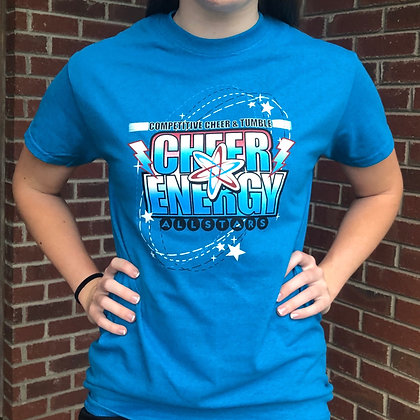 Cheer Energy Tee- Electric Blue