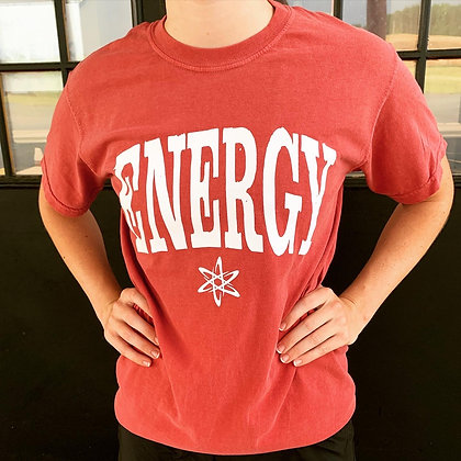 ENERGY Tee- Distressed Red