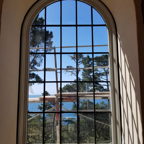 Arched Windows Installed, Padre Lane, Pebble Beach