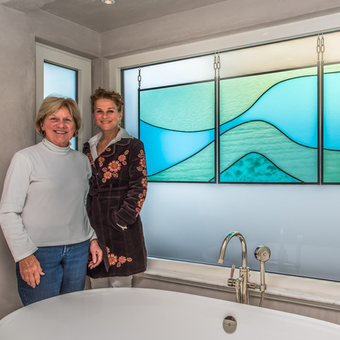Blue Ocean Wave Triptych