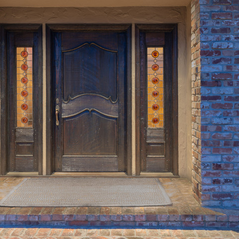 Amber Bottle Glass, Front Entranceway