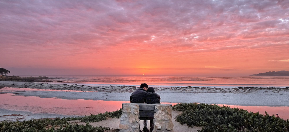 Carmel Sunset Couple by Manny Espinoza P