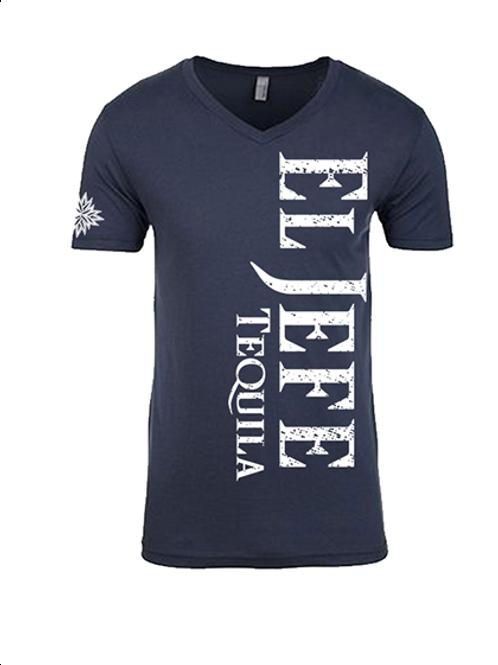 El Jefe Ladies Grey V-Neck Shirt