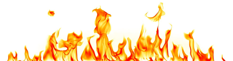 This is a photo of flames rising from the bottom of the website.