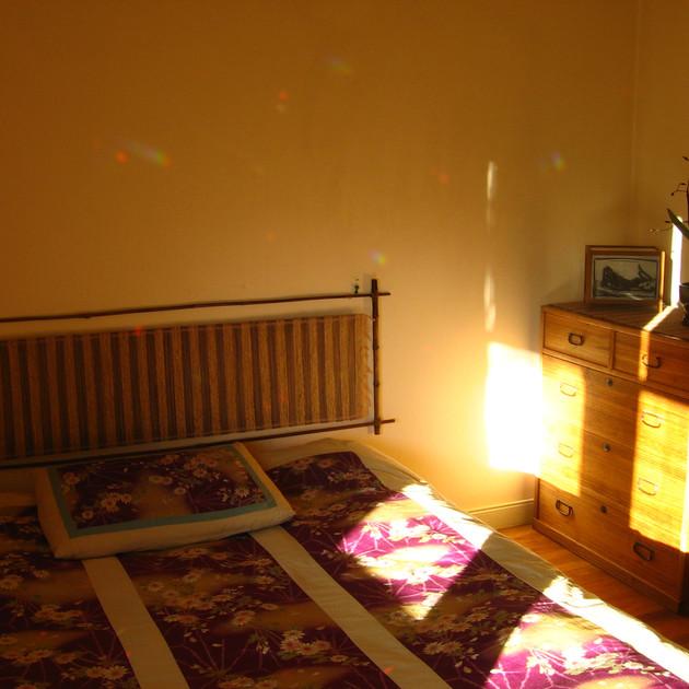 Berkeley Bedroom with Spinning Rainbows