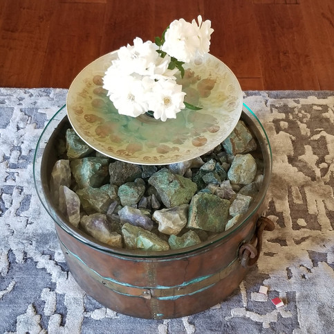 Copper Pot Side Table