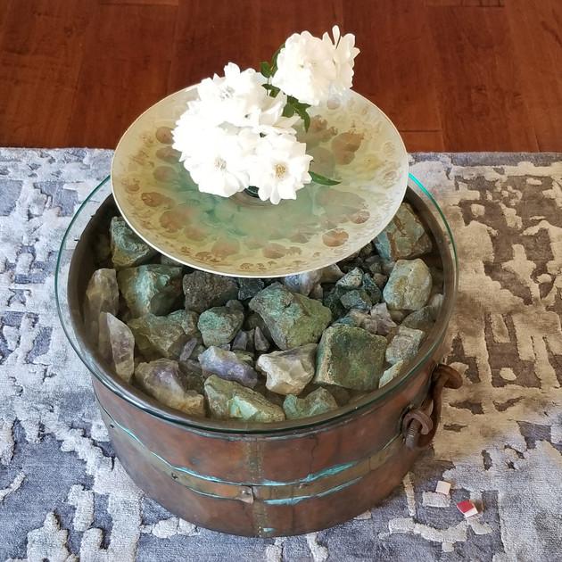 Copper Pot Side Table