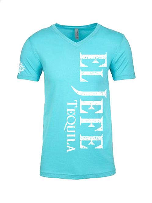 El Jefe Ladies Teal V-Neck Shirt