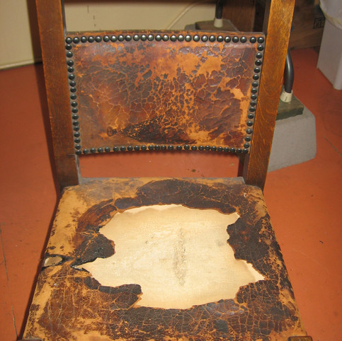 Before/Stickley Leather Repair