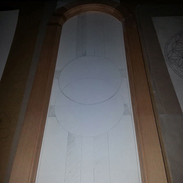 Vesica Pisces within Arched Frame