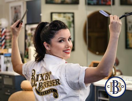 Rachel at Bixby Barber by Manny Espinoza