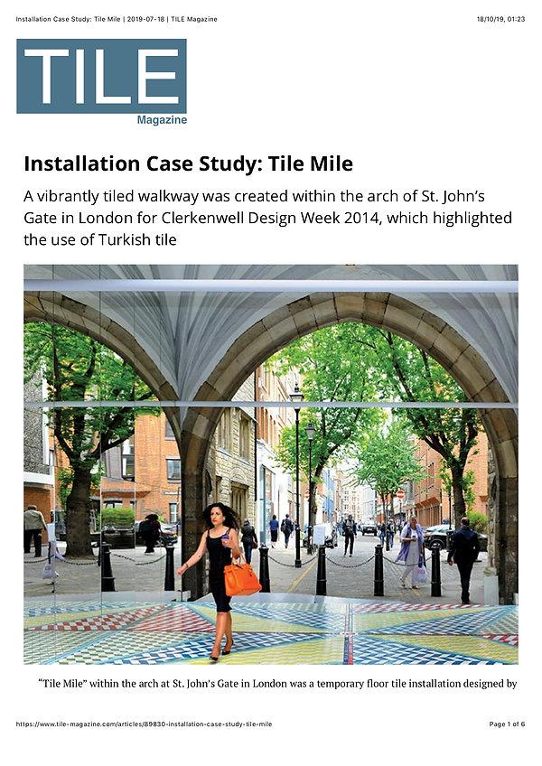 Installation Case Study- Tile Mile _ 201