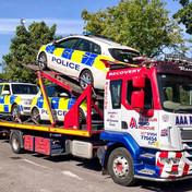 DAF transporter fully loaded