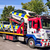 DAF truck loaded with cars