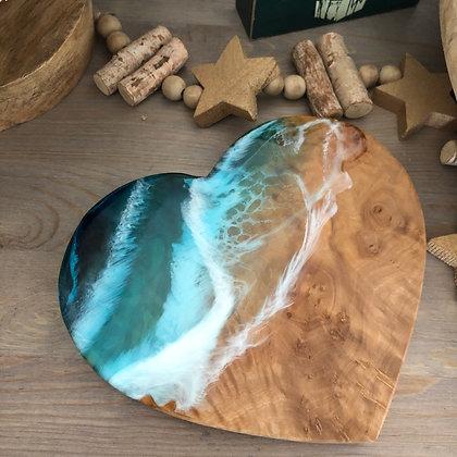 OLIVE WOOD OCEAN HEART
