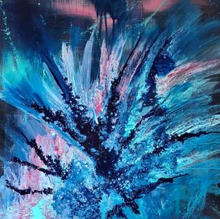 Acrylic Fluid Painting