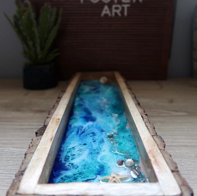 home decor raw wood decorative tray