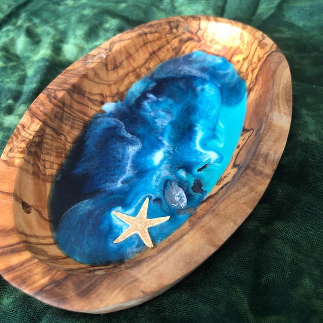 home decor olive wood bowl