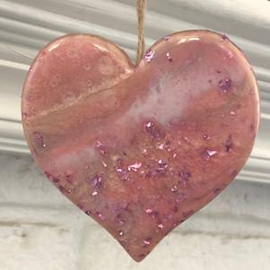 hoiday sparkly heart ornament