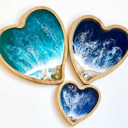OCEAN HEART TRAY