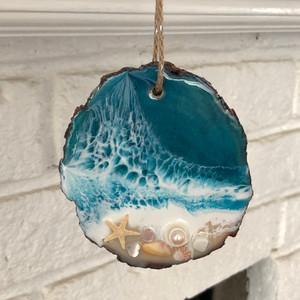 Coastal beach ornament