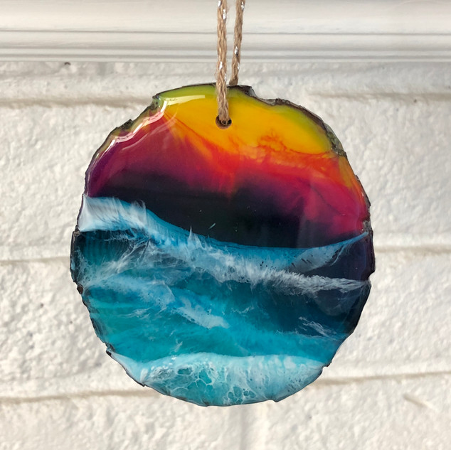 Sunset beach ornament for Christmas