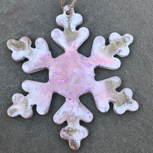 holiday snowflake ornament