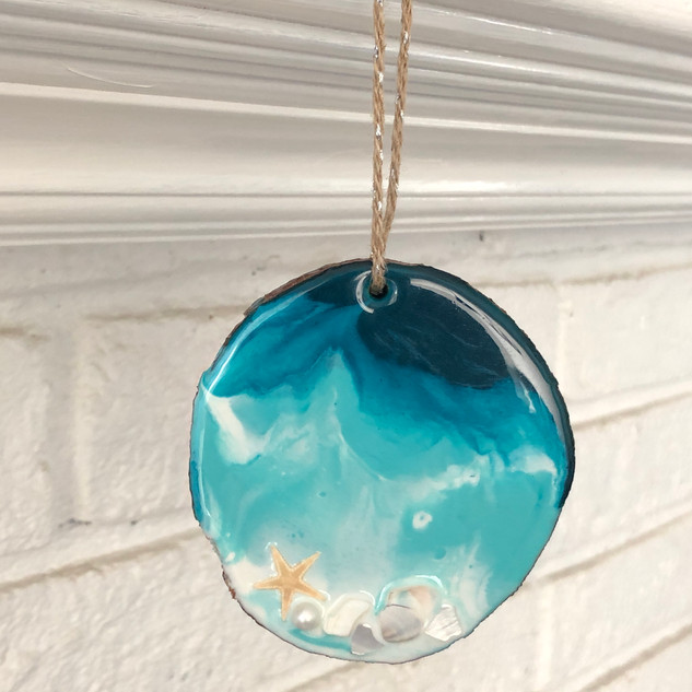 coastal holiday ornament