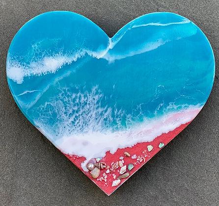 PINK SAND BEACH HEART